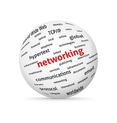 Networking globe vector