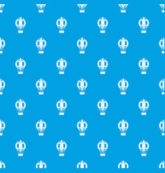 old fashioned helium balloon pattern seamless blue vector image