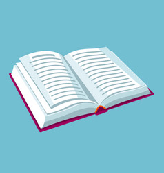 Open book with text for education vector