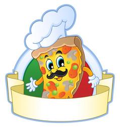 pizza theme image 1 vector image