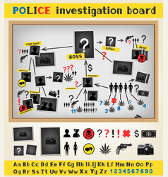 Police investigation board vector