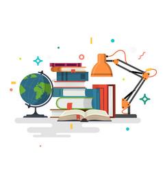 reading education flat design vector image