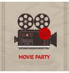 Retro Movie Poster vector