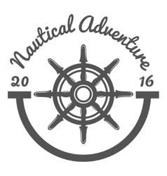 Retro vintage nautical label and badge logo vector image
