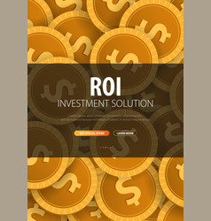 Return on investment roi market and finance vector