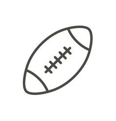 rugby ball icon outline american football vector image