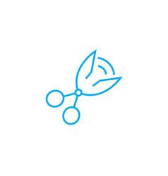 scissors linear icon concept scissors line vector image