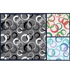 seamless rings pattern vector image