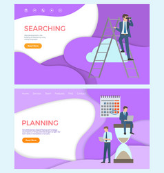 searching web development planning optimization vector image