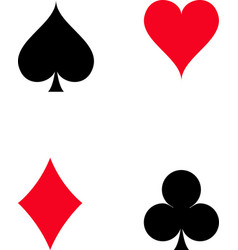 set playing card icon on white background vector image