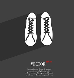 shoes symbol Flat modern web design with long vector image