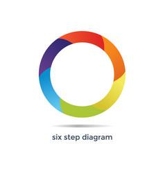 Six step diagram vector
