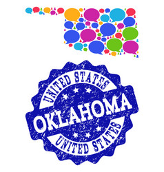 Social network map of oklahoma state with speech vector