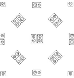 Studio speakers pattern seamless vector