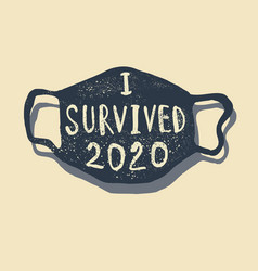 Survived corona quote t-shirt design vector