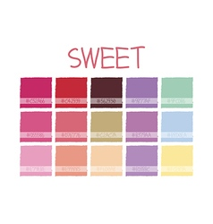 Sweet Color Tone vector image