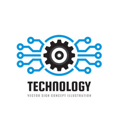 Technology - concept business logo template vector