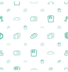 Toast icons pattern seamless white background vector
