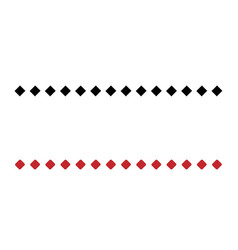 two simple dotted line consists of black and red vector image