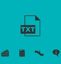 Txt file icon flat vector