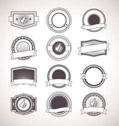 Vintage badges Retro Labels vector