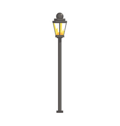 Vintage streetlight vector