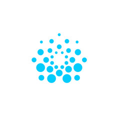 Water logo concept abstract blue dotted drop vector