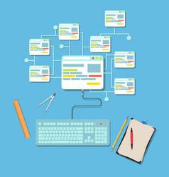 Web design concept flat design page website vector