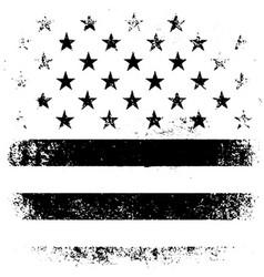 American Flag Background Grunge Aged Black vector image vector image