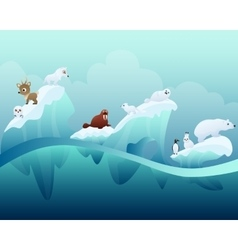 Animals in the Arctic vector image vector image
