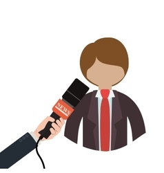 broadcasting concept design vector image vector image