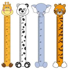 Children meter sticker wall vector image vector image