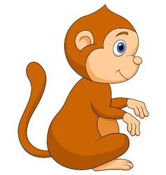 Cute monkey cartoon sitting vector image