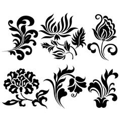 flower element set vector image vector image