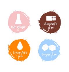 healthy food labels food intolerance symbols vector image