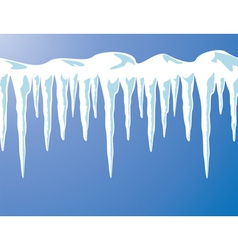 icicles and snow vector image