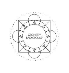 magic geometry background vector image