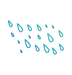 rain drops isolated icon vector image vector image