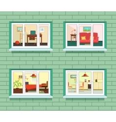 Window view of flat design vector