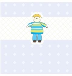 baby boy arrival card illustration vector image vector image