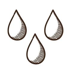 Drops symbol vector image vector image
