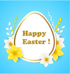 easter card with flowers vector image vector image