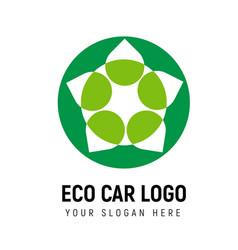 Eco-friendly transport logo template logotype vector