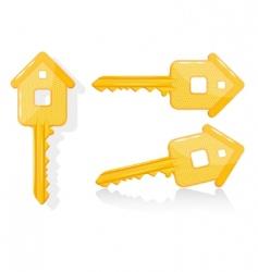 house key illustration vector image vector image