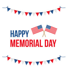 memorial day card with national flag vector image