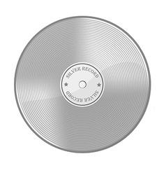 Silver disc vector image vector image