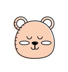 Teddy bear boy head animal wild vector