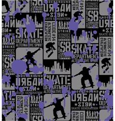Urban Skateboarding vector image vector image