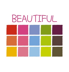 Beautiful Color Tone without Code vector image
