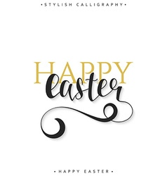 Lettering calligraphy set Happy Easter day Modern vector image vector image